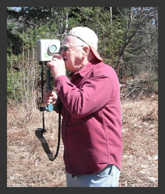 Man using the VLF-EM 16.